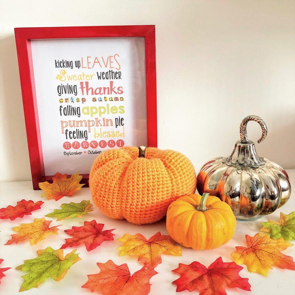 Crochet an Autumn pumpkin