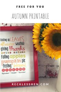 free Autumn print