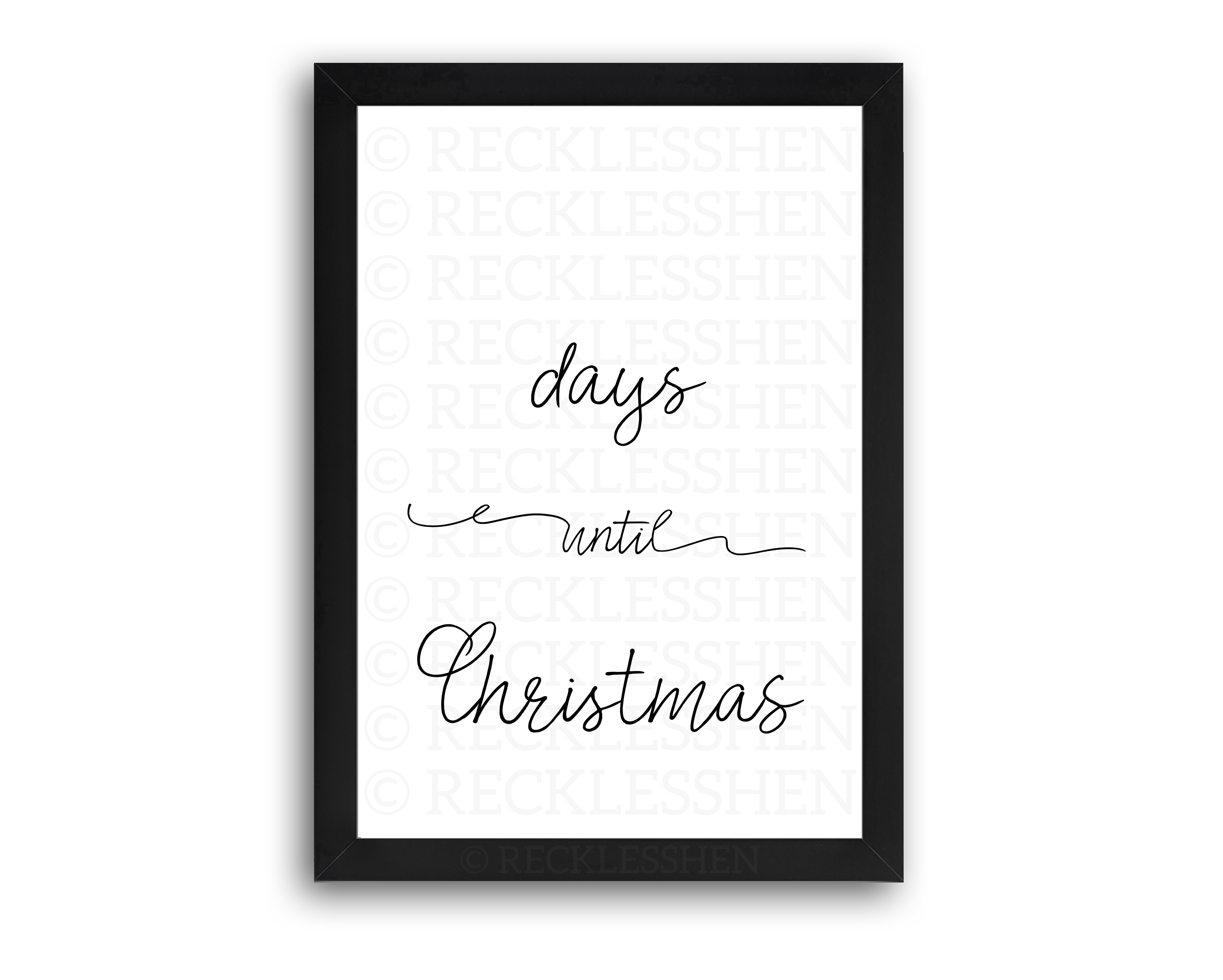 Days Until Christmas - A4 Print