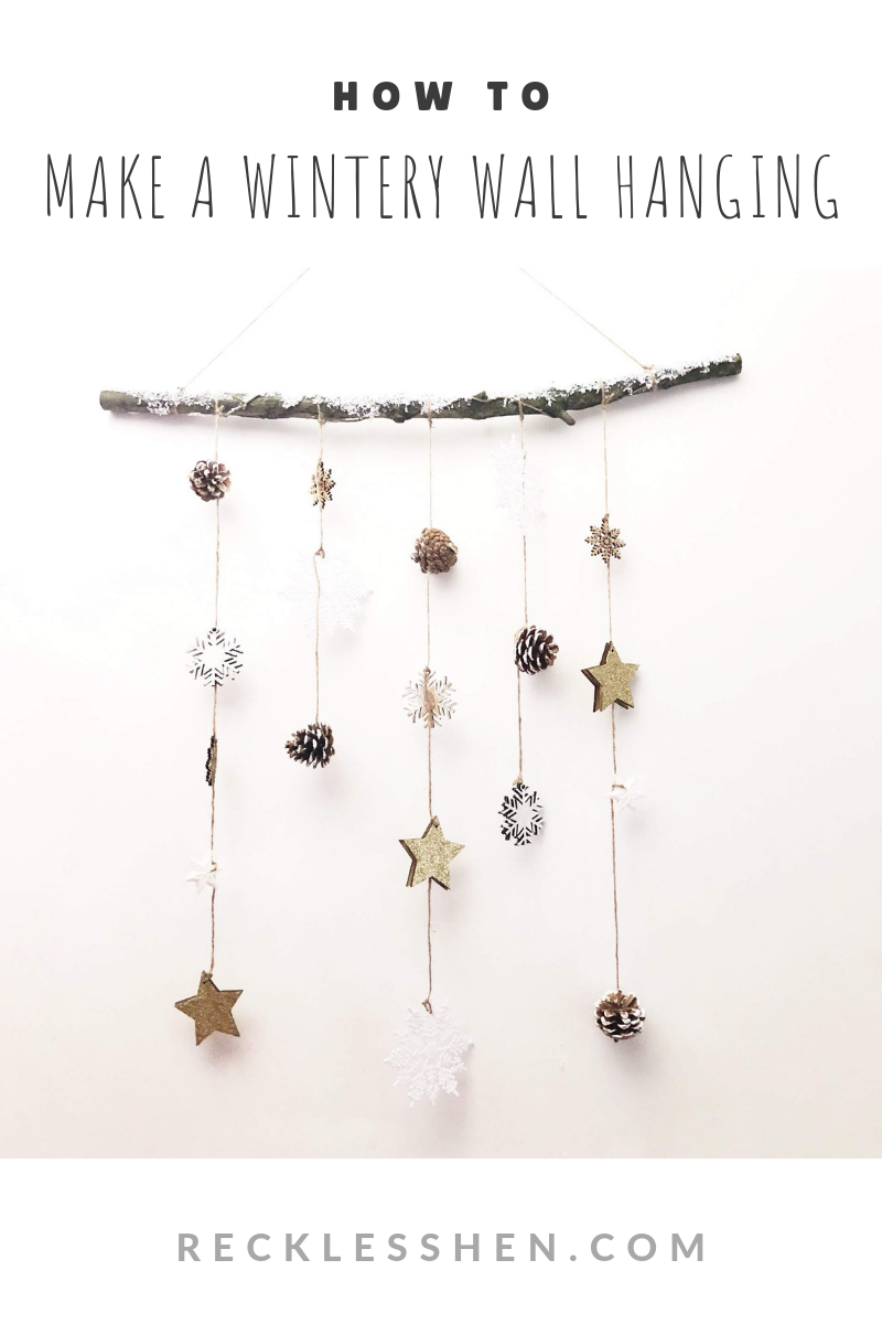 Make a Wintery Wall Hanging