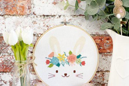 spring bunny cross stitch